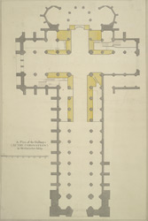 A plan of the gallarys [sic] (at the coronation) in Westminster Abby